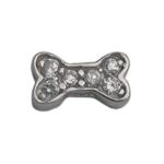 Dog Bone - Silver & CZ Charm